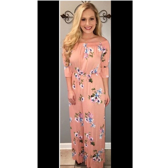 Love in Pants - NWOT Sz Small Floral Off The Shoulder Jumpsuit